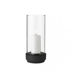 Stelton HURRICANE Lampion - Świecznik 24,5 cm Czarny