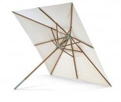 Skagerak ATLANTIS Parasol Ogrodowy Kwadratowy  330x330 cm - Drewno Meranti