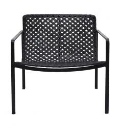 House Doctor HABRA Krzesło z Rattanowym Siedziskiem i Oparciem - Czarne