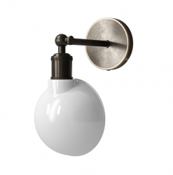 Menu WALKER Kinkiet Mosiężny - Lampa Ścienna - Opal