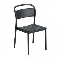 Muuto LINEAR SIDE Krzesło Metalowe - Czarne