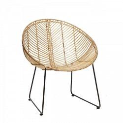 Hübsch ROUND Krzesło Ratanowe - Naturalne