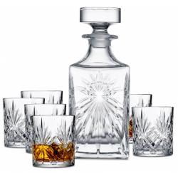 Lyngby Glass MELODIA Kryształowa Karafka i Szklanki do Whisky 310 ml 7 El.