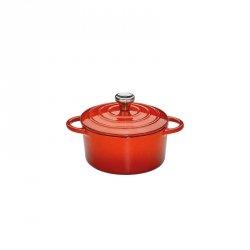 Küchenprofi PROVENCE Garnek Żeliwny z Pokrywką 10 cm Czerwony