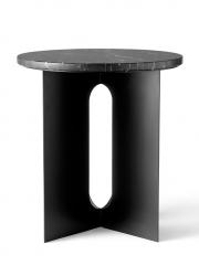 Menu ANDROGYNE Okrągły Stolik z Marmurowym Blatem - Czarny