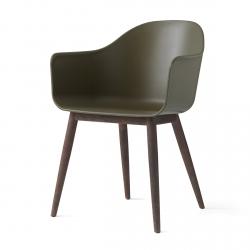 Menu HARBOUR Krzesło - Rama Drewniana Ciemna/Siedzisko Oliwkowe