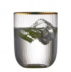 Lyngby Glass PALERMO Szklanki do Wody 350 ml Złote