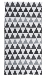 Villa Collection NORDIUC Chodnik - Dywan 140x70 cm Czarno/Biały