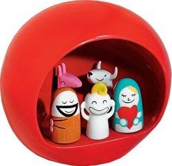 A di Alessi PRESEPE Szopka Świąteczna z Figurkami - Czerwona