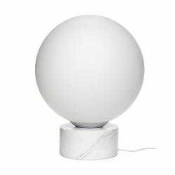 Hübsch MARBLE Lampa Podłogowa Marmurowa - Biała