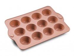 Blomsterbergs BAKE Silikonowa Forma do 12 Muffinów - Różowa
