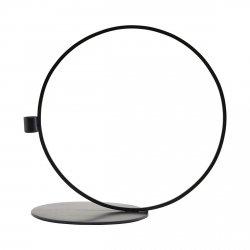 House Doctor CIRQUE Świecznik Stojący Okrągły 33 cm Czarny