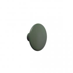 Muuto DOTS Wieszak Drewniany XS - 6.5 cm Ciemnozielony Dark Green