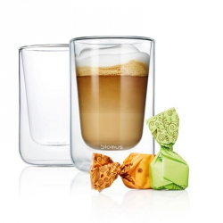 Blomus NERO Szklanki Termiczne do Cappuccino 250 ml