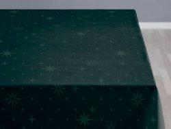 Sodahl CHRISTMAS STELLA Obrus Świąteczny na Stół 140x270 cm Ciemnozielony