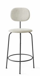 Menu AFTEROOM Krzesło Barowe 92 cm Hoker Czarny Tapicerowany - Tkanina Maple 222