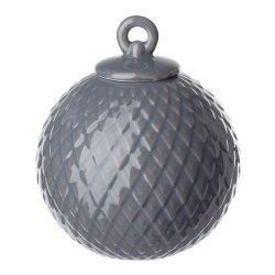 Lyngby Porcelain RHOMBE Bombka Porcelanowa - Ciemnoszara