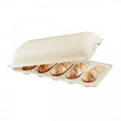 Emile Henry - Ceramiczna Forma do Pieczenia 5 Mini Bagietek - Kremowa