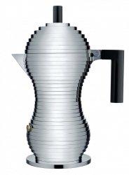 Alessi PULCINA Kawiarka - Zaparzacz do Espresso 300 ml - Czarna Rączka - Indukcja