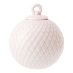 Lyngby Porcelain RHOMBE Bombka Porcelanowa - Różowa
