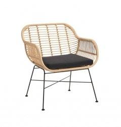 Villa Collection OUTDOOR Fotel - Krzesło z Poduszką z Poliratanu