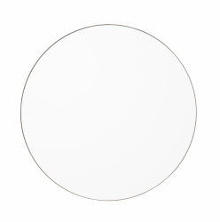 Aytm CIRCUM Lustro Ścienne Okrągłe 50 cm Taupe - Tafla Klasyczna