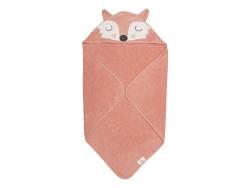 SÖDAHL Frida Fox Ręcznik z Kapturem dla Dzieci 80x80 cm Lisek