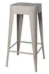 Broste Copenhagen DARYLL Krzesło Barowe 65 cm Hoker - Dove