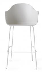 Menu HARBOUR Krzesło Barowe 112 cm Hoker Jasnoszary - Siedzisko Jasnoszare