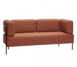 Hübsch NORDIC Sofa Tapicerowana 189 cm Brązowa
