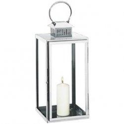 Cilio TORRE Lampion 53 cm Srebrny