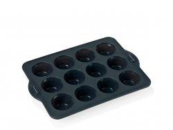 Blomsterbergs BAKE Silikonowa Forma do Pieczenia 12 Muffinów Szara