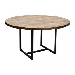 House Doctor KANT Stół Okrągły 140 cm z Drewnianym Blatem