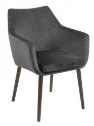 Villa Collection ELEGANT Krzesło z Welurowym Siedziskiem - Szare