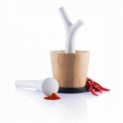 Xd Modo PESTA Moździerz Drewniany z Porcelanowym Tłuczkiem