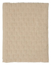 Sodahl DECO Bawełniany Pled - Koc 130x170 cm Nude Rózowy