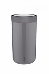 Stelton TO GO CLICK Stalowy Kubek Termiczny 200 ml Szary Granite Grey