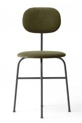 Menu AFTEROOM Krzesło Czarne Tapicerowane - Tkanina City Velvet 031