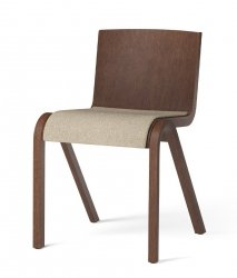 Menu READY Krzesło Drewniane Tapicerowane - Ciemny Dąb / Siedzisko Tkanina Boucle 02