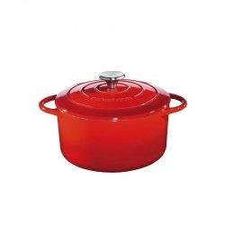 Küchenprofi PROVENCE Garnek Żeliwny z Pokrywką 22 cm Czerwony
