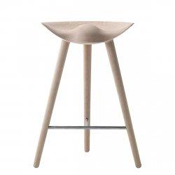 by Lassen ML42 Krzesło Barowe -- Hoker 69 cm Dębowy / Poprzeczka Srebrna