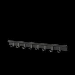Muuto COIL Listwa - Wieszak Ścienny na Ubrania 100 cm Czarny