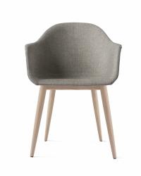 Menu HARBOUR Krzesło - Rama Dąb Naturalny - Siedzisko Tapicerowane Szare