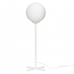 Hübsch MARBLE Lampa Stołowa - Biała - Klosz Biały