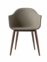 Menu HARBOUR Krzesło - Rama Ciemny Dąb - Siedzisko Tapicerowane Beżowe