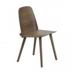 Muuto NERD Krzesło Drewniane - Ciemnobrązowe