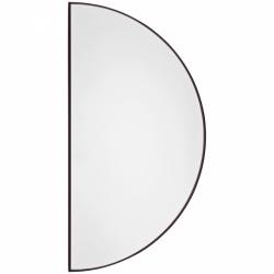 Aytm UNITY Lustro Ścienne Półkoliste 50 cm Czarne