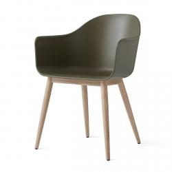 Menu HARBOUR Krzesło - Rama Drewniana/Siedzisko Oliwkowe