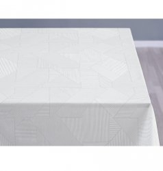 Sodahl COMPLEX DAMASK Obrus na Stół 140x220 cm Biały - Optical White