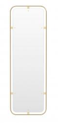 Menu NIMBUS Lustro Ścienne Prostokątne 158 cm Rama Mosiądz Polerowany - Odcień Złoty